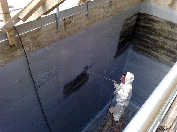 impermeabilizzazione di vasche di contenimento acqua