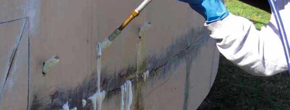 iniezioni di resine idroespansive
