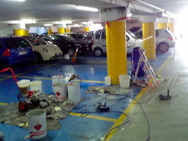 inizione resine parcheggio