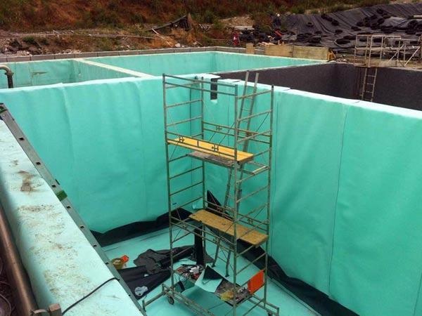 rivestimento cisterne d'acqua